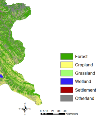 Land use and cover map