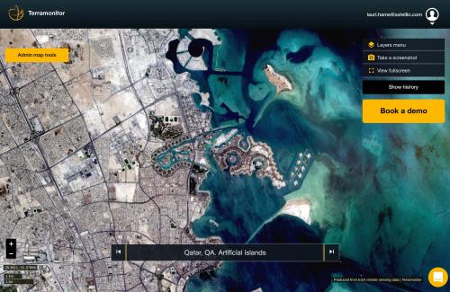 Screenshot from the Terramonitor web application